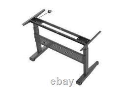 Monoprice Height Adjustable Gas-Lift Sit-Stand Desk Frame 5 Feet Wide Black