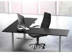 Monoprice Triple Motor Height Adjustable Sit-Stand Corner Desk Frame Gray