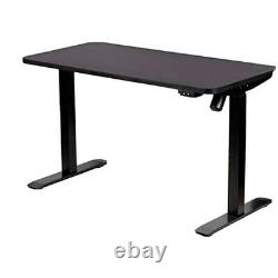 Motionwise Home Series Electric Height Adjustable Sit and Stand Desk Black