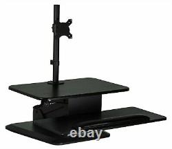 Mount-It! Adjustable Sit Stand Desk Converter for Up To 27 Monitors MI-7914