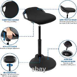 Mount-It! Ergonomic Sit Stand Stool 360° Tilt Height Adjustable, Leaning Chair