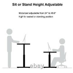 NEW Dual Motor Height Adjustable Electric Sit & Stand Desk Frame 220lb Load