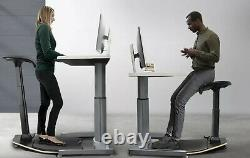 NEW Sit/Stand/Lean Chair Standing Desk ANTI-FATIGUE Adjustable ERGONOMIC Stool