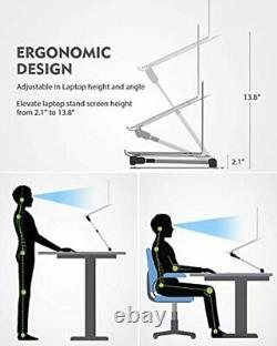NULAXY Laptop Stand, Ergonomic Sit to Stand Laptop Holder Convertor, Adjustable