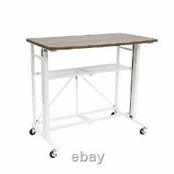 Origami Adjustable Height Sit to Stand Ergonomic Laptop Computer Desk, White
