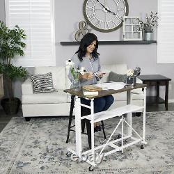 Origami Sit or Stand Adjustable Standing Work Home Office Desk, Slim (Used)