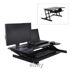 Pyle PDRIS06 Adjustable Sit & Stand Desk, Universal Computer Laptop Workstation