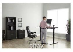 Realspace Sit Stand Desk-Magellan 43 x 60 x 30 Pneumatic Height Adjustable