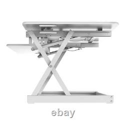 Rocelco 46 Large Height Adjustable Standing Desk Converter Quick Sit