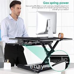 SIMBR Standing Desk Converter fits Dual Monitor, Height Adjustable Sit to Stand