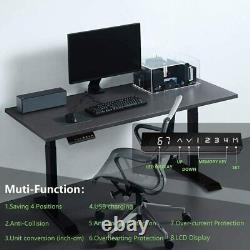 SMONTER Electric Standing Desk Frame Adjustable Height Sit to Stand Up 2-Stage
