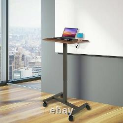 Seville Classics Airlift Pneumatic Sit-stand Mobile Desk Cart, Height-adjustable