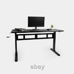 Sit Stand Desk Frame Study Office Home Work surface Crank Adjustable Height