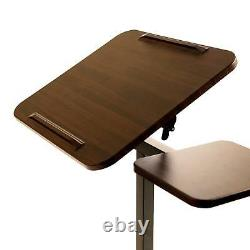Sit-Stand Desk Portable Freestanding Adjustable Rolling Podium Church Pulpit