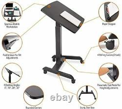 Sit Stand Portable Lectern Steady Multifunction Tilt Mobile Podium Adjust Height