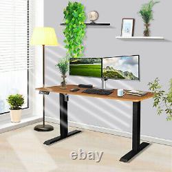 Standing Desk 48x24 Height Adjustable Desk Electric Sit Stand Desk Home Office