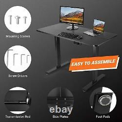 TACKLIFE Standing Desk, Electric Height Adjustable Desk, Home Office Sit Stand D