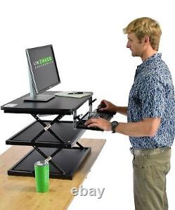 Tall Height Adjustable Sit Stand Up Desk Conversion Standing Riser with Keyboard