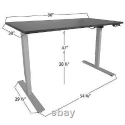 Titan Adjustable Height Electric Motorized Sit To Stand Work Desk 24- 50 A2
