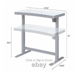 Tresanti 47 Sit/Stand Tech Adjustable Height Desk, LED Touch Control, Wireless