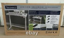 Tresanti Adjustable Height Desk, White Sit or Stand Wireless Charging New