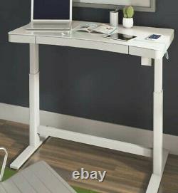 Tresanti Adjustable Height Desk, White Sit or Stand Wireless Charging New OB
