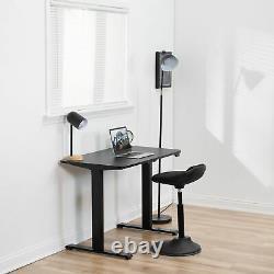 USED VIVO Black Electric 40 x 24 Sit Stand Desk, Height Adjustable Workstation