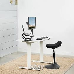 USED VIVO White 44x 24 Electric Sit Stand Desk, Height Adjustable Workstation