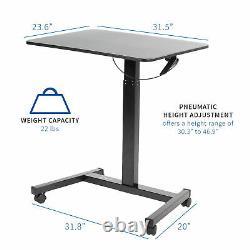 VIVO Adjustable Presentation Cart Tension Spring Sit-Stand Mobile Workstation