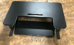VIVO Black Height Adjustable 36 inch Stand up Sit to Stand Desk Converter BLACK