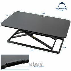 VIVO Economy Height Adjustable 29 Standing Desk Sit Stand Desktop Monitor Riser