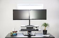 VIVO Height Adjustable Standing Desk Monitor Riser Gas Spring 36 Tabletop Sit