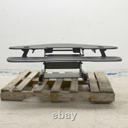 VariDesk Cube Corner 48 Black Sit-Standing Height-Adjustable Desk Converter