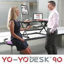 YO-YO DESK 90-Height Adjustable Standing Desk (BLACK). Superior sit-stand Desk