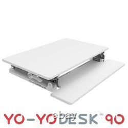 YO-YO DESK 90-Height Adjustable Standing Desk (WHITE). Superior sit-stand Desk