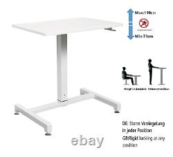YULUKIA 100001 Height Adjustable Rectangular Desk, sit and stand workstation, on
