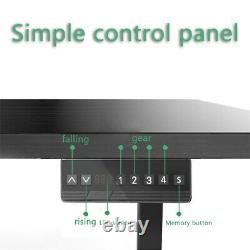 1 X Réglable Sit-stand Desk Legs Frame Dual Motor Memory Touch Control Noir
