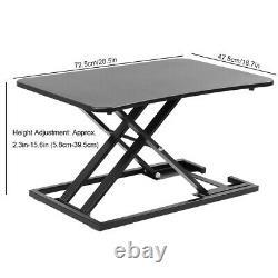 16 Moniteur De Bureau Permanent Réglable Riser Table Table Assise À Table Debout