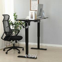 24x55 Ajustable Hauteur Bureau Électrique Debout Sit Lifting Table Basket+hook