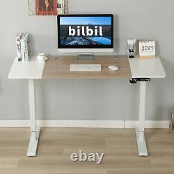 24x55 Electric Standing Desk Hauteur Réglable Sit Lifting Table Basket+hook