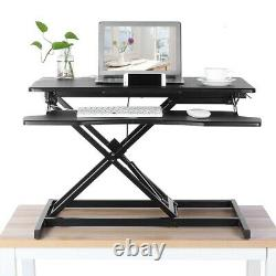 32 Hauteur Réglable Standing Desk Monitor Riser Tabletop Sit To Stand Tabletop
