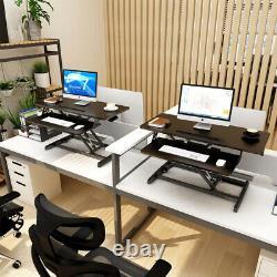 32 Pouces Convertisseur De Bureau Debout Ergonomic Sit Stand Up Table Réglable En Hauteur