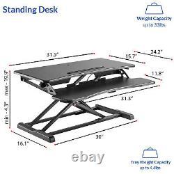 32 Stand Up Desk Convertisseur Hauteur Réglable Sit To Stand Desk Poste De Travail