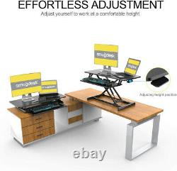 36 Pouces De Hauteur Réglable De Bureau Debout Riser Tabletop Sit Stand Workstation
