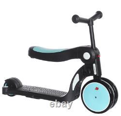 5 En 1 Deluxe Kid Scooter 3 Roue Réglable Hauteur Assise À Portée De Main