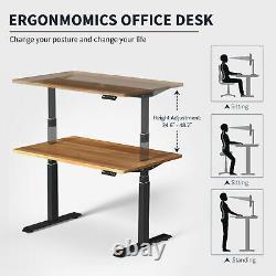 70 Electric Standing Bureau Réglable Sit Stand Table Ordinateur Pc Workstation