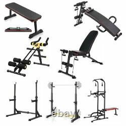 Accueil Gym Squat Rack Bench Press Weight Lifting Barbell Stand Weight/sit Up Bench