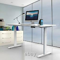 Aimezo Electric Standing Desk Frame Height Réglable Sit To Stand Desk Blanc