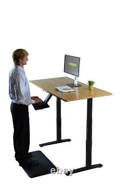 Bamboo Electric Height Adjustable Standing Desk Ergonomique Sit Stand Up Office
