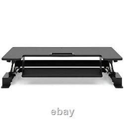 Best Choice Products 36in Height Adjustable Standing Tabletop Desk Sit To Stand